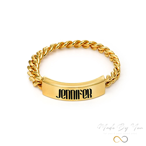 Engraved Name Link Ring - MADE-BY-YOU (JEWELRY)