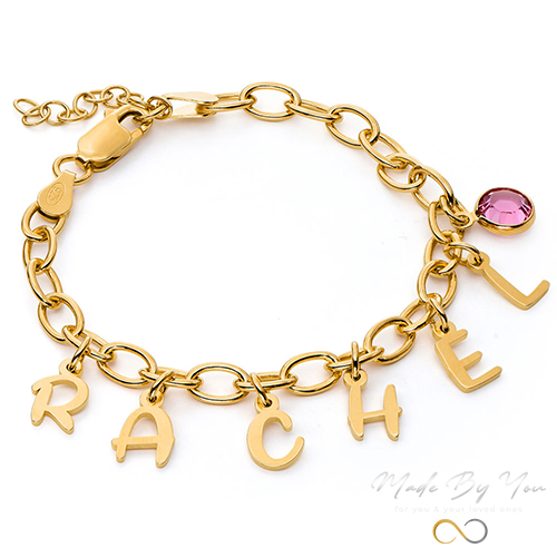 Letter Charm Bracelet - MADE-BY-YOU (JEWELRY)