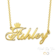 Crown Name Necklace - MADE-BY-YOU (JEWELRY)