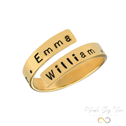 Engravable Ring Wrap - MADE-BY-YOU (JEWELRY)