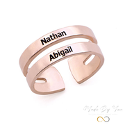 Two Name Ring - MADE-BY-YOU (JEWELRY)