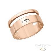 Asymmetrical Name Ring - MADE-BY-YOU (JEWELRY)