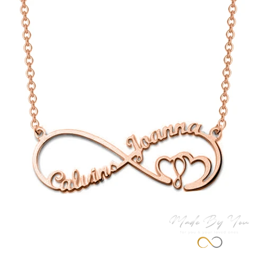 Infinity Heart Necklace with 2 Names - MADE-BY-YOU (JEWELRY)