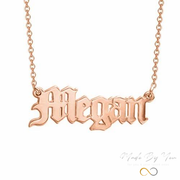 Old English Name Necklace - MADE-BY-YOU (JEWELRY)