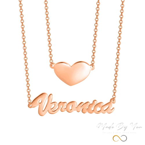 Love Heart Name Necklace - MADE-BY-YOU (JEWELRY)