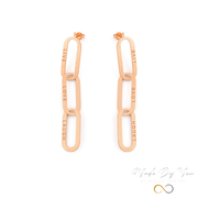 Aria Link Chain Earrings - MADE-BY-YOU (JEWELRY)