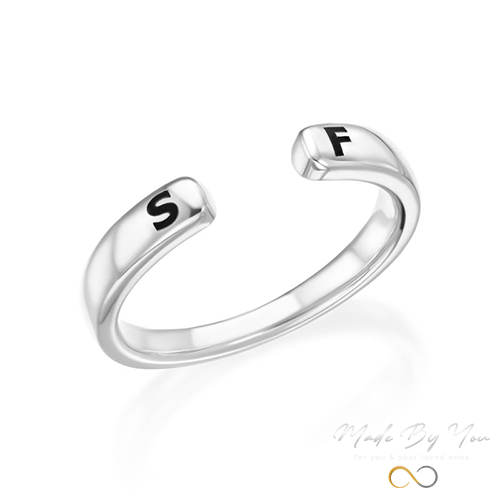 Custom Stacking Open Ring - MADE-BY-YOU (JEWELRY)