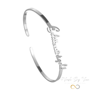 Stainless Steel Personalized Bracelet - MADE-BY-YOU (JEWELRY)