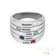 Five Stone Mothers Ring - MADE-BY-YOU (JEWELRY)