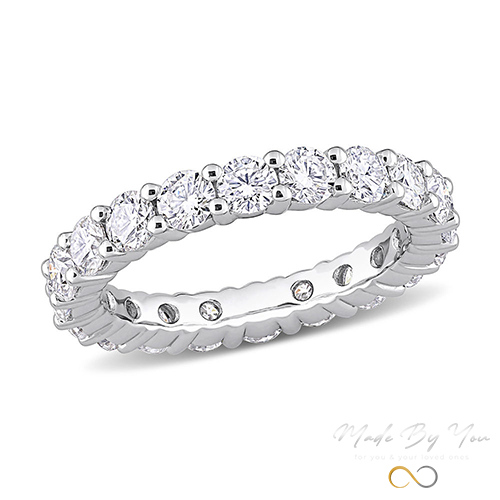 Moissanite Eternity Ring - MADE-BY-YOU (JEWELRY)