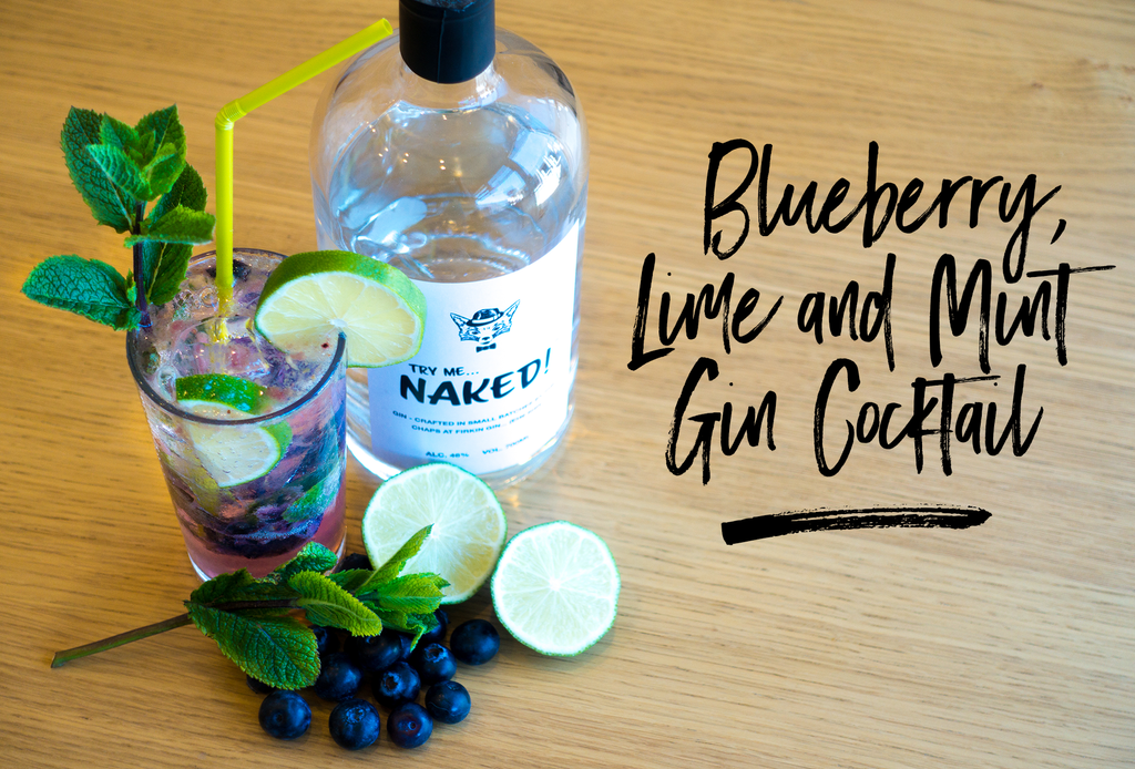 Blueberry, Lime and Mint Gin Cocktail Recipe