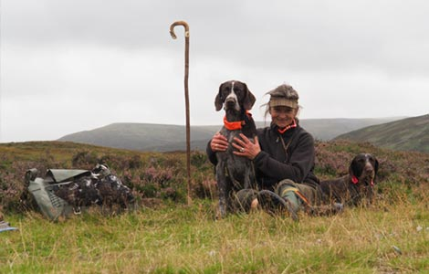Luise with her pointers   ArdMoor