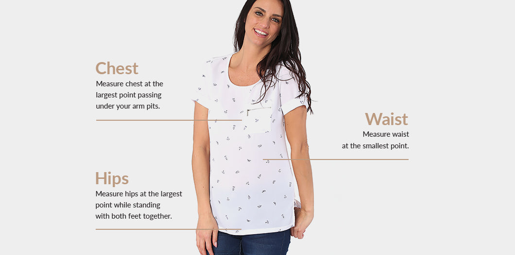 Sizing guide - Tops  - Marie Claire
