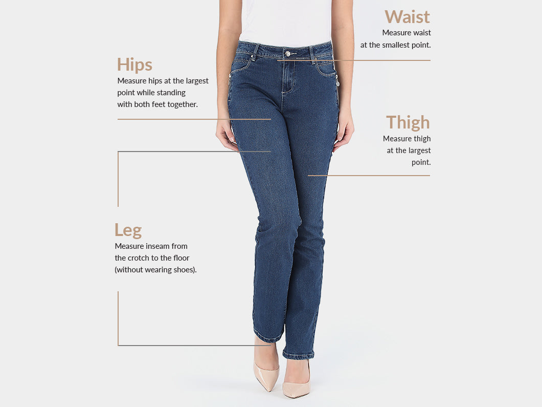 Sizing guide - Bottoms - Marie Claire