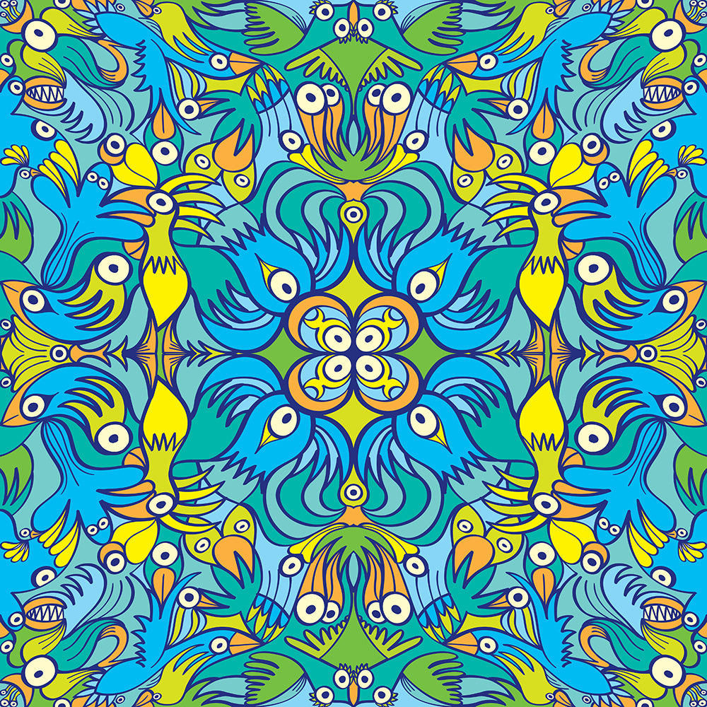 Exotic birds tropical pattern