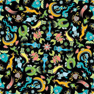 Sea creatures pattern design