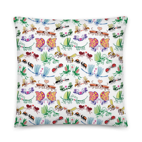 Cool insects madly in love Basic Pillow - Zoo&co