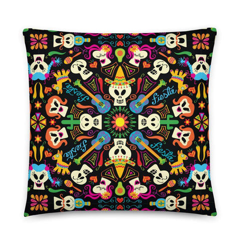 Day of the dead Mexican holiday Basic Pillow