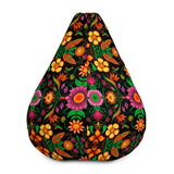 Wild flowers in a luxuriant jungle Bean Bag Chair Cover