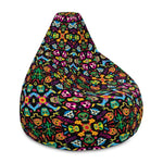 Mexican wrestling colorful party Bean Bag Chair Cover