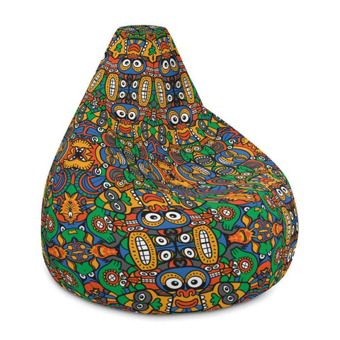 Fantastic African masks festival Bean Bag Chair Cover