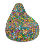 Cheerful crowd enjoying a lively carnival Bean Bag Chair Cover