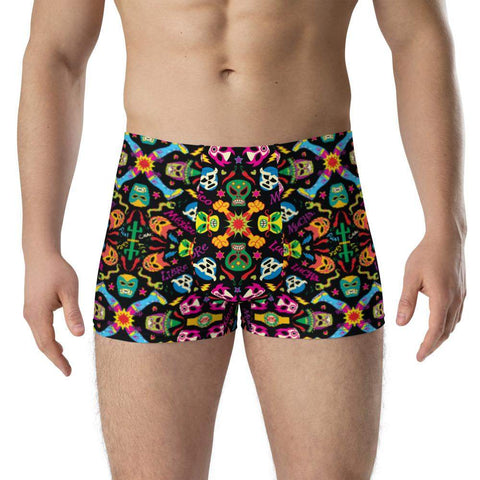 Mexican wrestlers colorful party Boxer Briefs