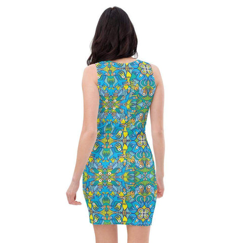 Exotic birds tropical pattern Sublimation Cut & Sew Dress - Zoo&co