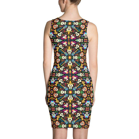 Day of the dead Mexican holiday Sublimation Cut & Sew Dress