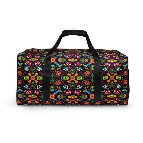 Mexican wrestling colorful party Duffle bag
