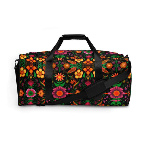 Wild flowers in a luxuriant jungle Duffle bag