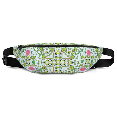 Funny frogs hunting flies Fanny Pack