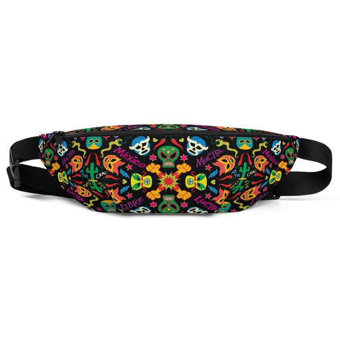 Mexican wrestling colorful party Fanny Pack
