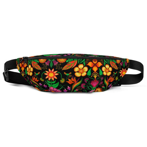 Wild flowers in a luxuriant jungle Fanny Pack