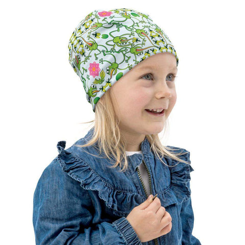 Funny frogs hunting flies All-Over Print Kids Beanie - Zoo&co