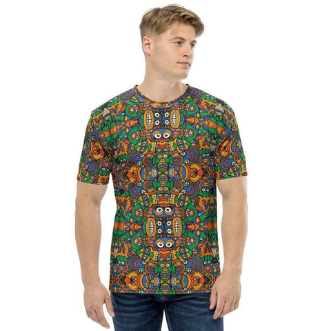 Fantastic African masks festival Men's T-shirt