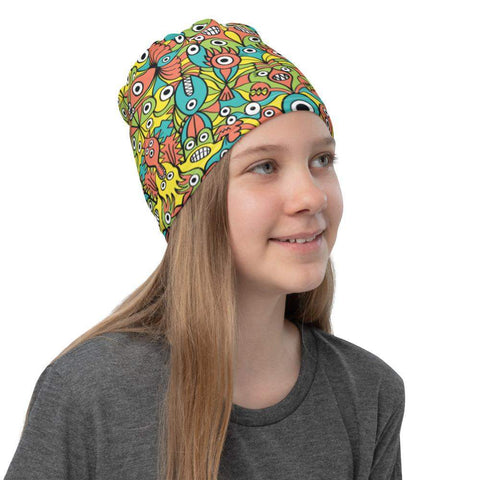 Alien monsters pattern design Neck Gaiter - Zoo&co