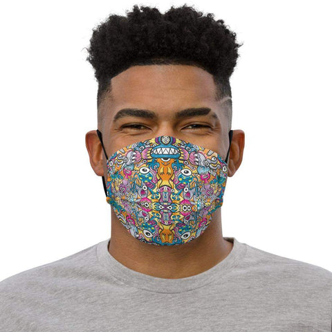 Half monsters half robots Premium face mask - Zoo&co