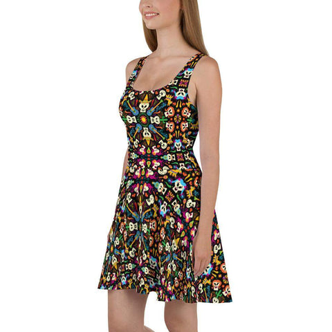 Day of the dead Mexican holiday Skater Dress