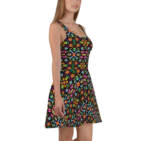 Mexican wrestling colorful party Skater Dress - Zoo&co