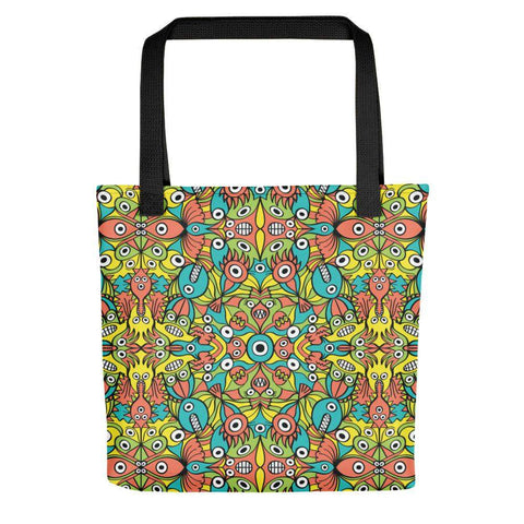 Alien monsters pattern design Tote bag