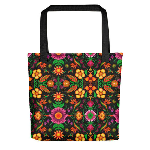 Wild flowers in a luxuriant jungle Tote bag
