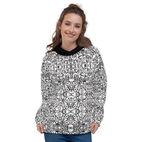 Brush style doodle critters Unisex Hoodie - Zoo&co