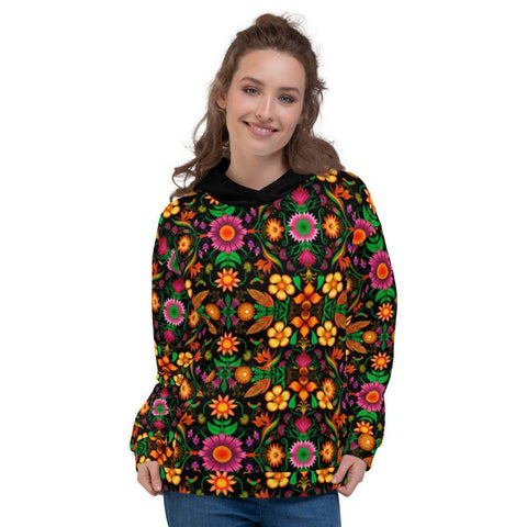 Wild flowers in a luxuriant jungle Unisex Hoodie