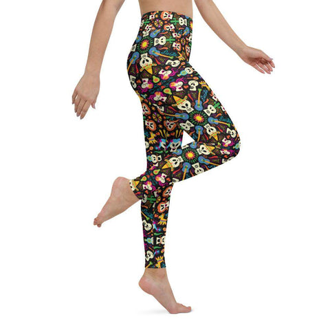 Day of the dead Mexican holiday Yoga Leggings