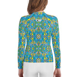 Exotic birds tropical pattern Youth Rash Guard - Zoo&co