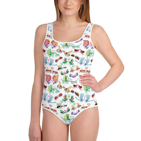 Cool insects madly in love All-Over Print Youth Swimsuit - Zoo&co