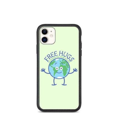 Planet Earth accepts free hugs all year round Biodegradable phone case