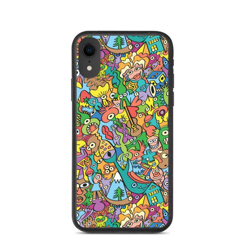 Cheerful crowd enjoying a lively carnival Biodegradable phone case