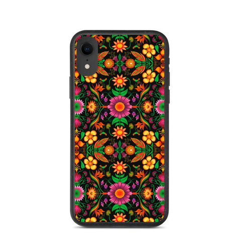 Wild flowers in a luxuriant jungle Biodegradable phone case